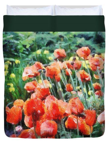 Field Of Flowers Duvet Cover by Jeff Kolker