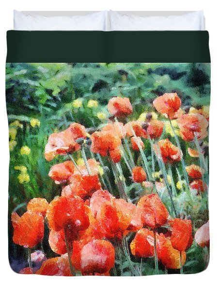 Field of Flowers Duvet Cover by Jeff Kolker
