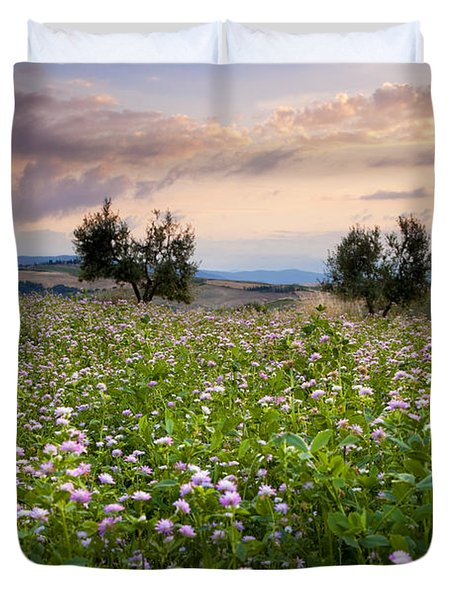 Field Of Wildflowers Duvet Cover by Brian Jannsen