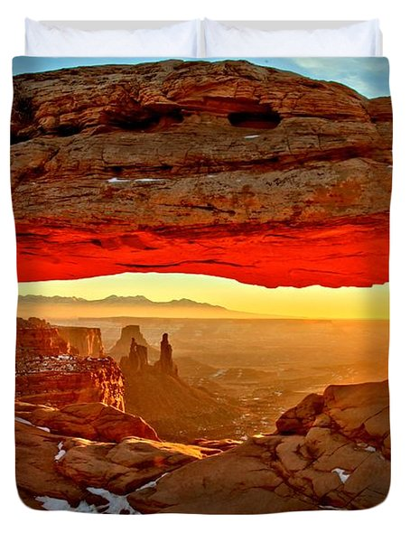 Fiery Morning Duvet Cover by Adam Jewell
