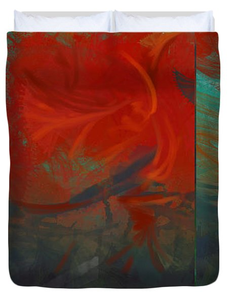 Fiery Whirlwind Onset Duvet Cover by CR Leyland