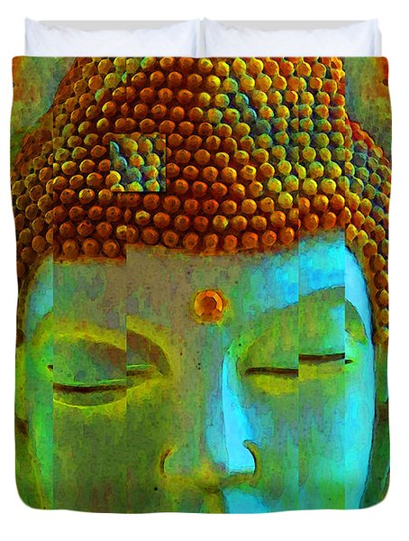 Finding Buddha - Meditation Art By Sharon Cummings Duvet Cover by Sharon Cummings