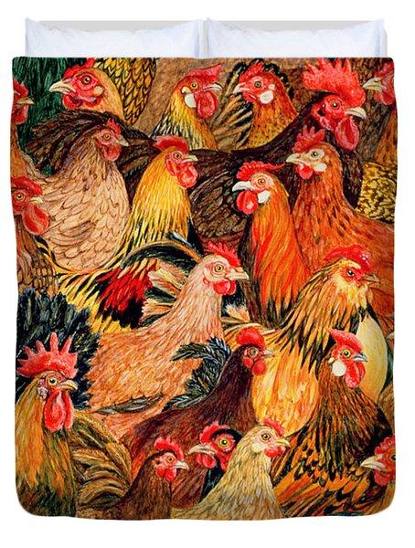 Fine Fowl Duvet Cover by Ditz
