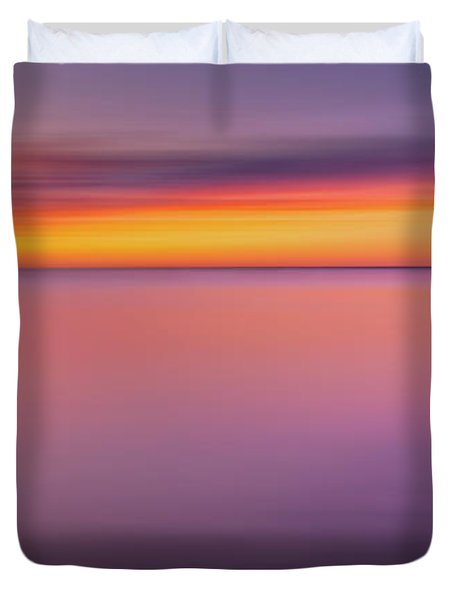 Fire In The Sky Duvet Cover by Bill  Wakeley