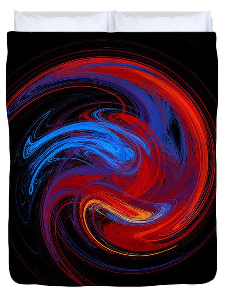 Fire Sphere Duvet Cover by Andee Design