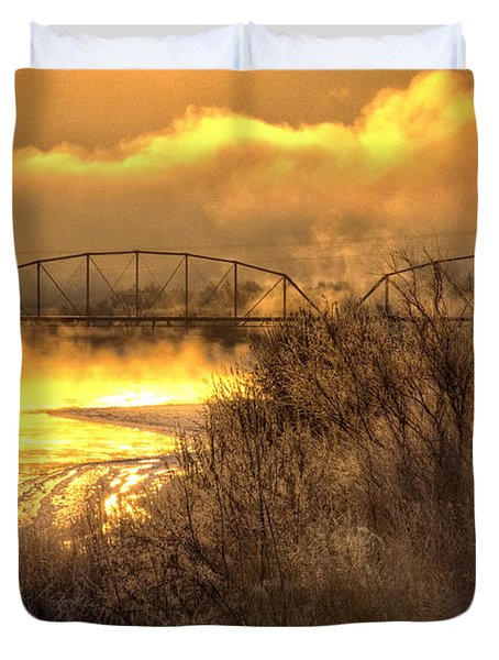 Fire Water Duvet Cover by Bob Hislop