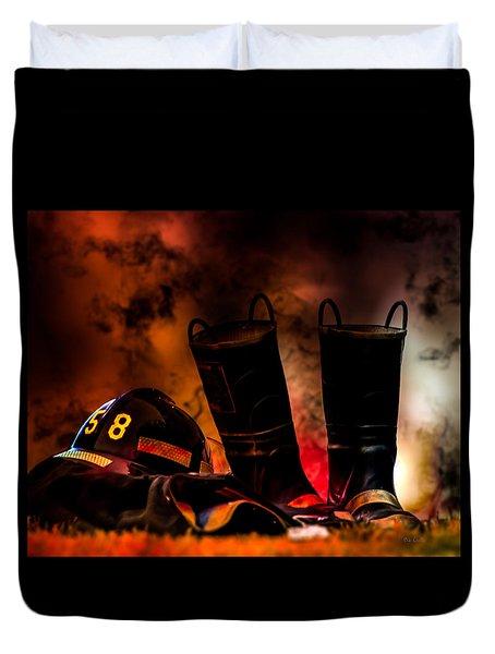 Firefighter Duvet Cover by Bob Orsillo