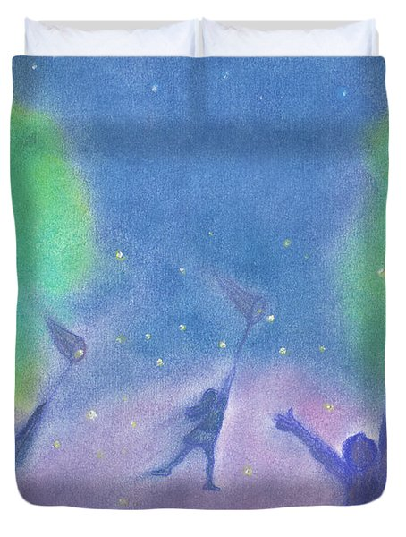Fireflies By Jrr Duvet Cover by First Star Art