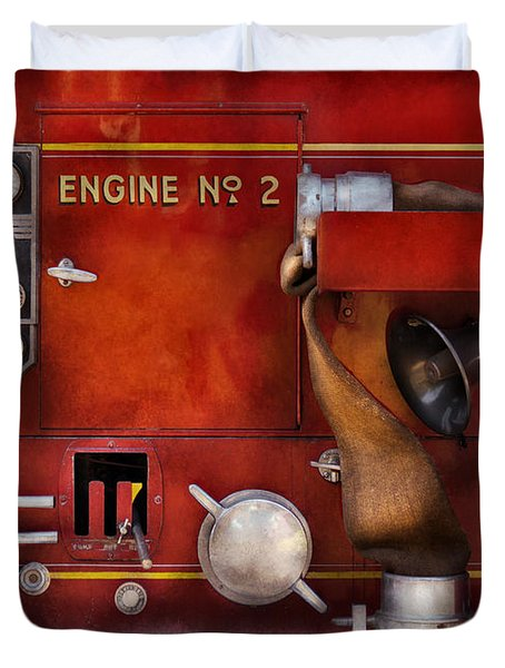 Fireman - Old Fashioned Controls Duvet Cover by Mike Savad