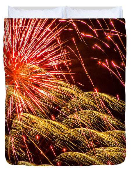 Fireworks 2008 Series 1 Duvet Cover by Chris Tobias