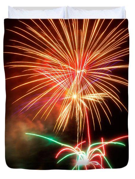 Fireworks 2011 Series 4 Duvet Cover by Chris Tobias