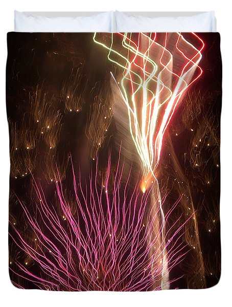 Fireworks Duvet Cover by Aimee L Maher Photography and Art