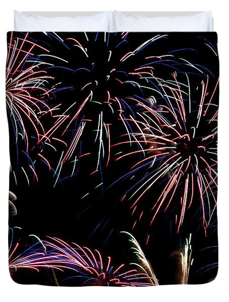Fireworks Extravaganza 2 Duvet Cover by Steve Purnell