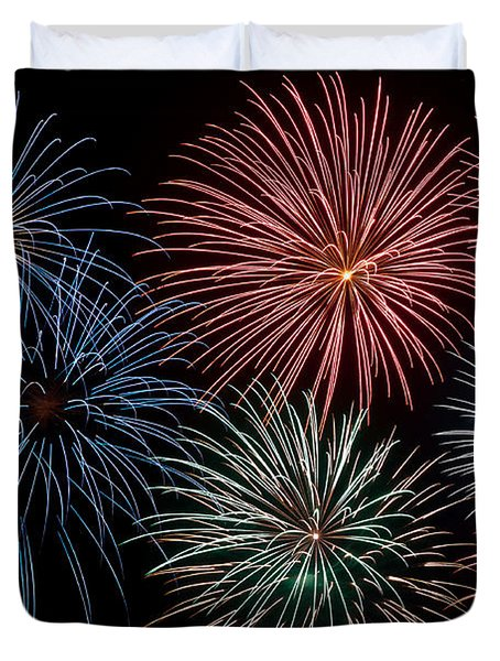 Fireworks Extravaganza 4 Duvet Cover by Steve Purnell