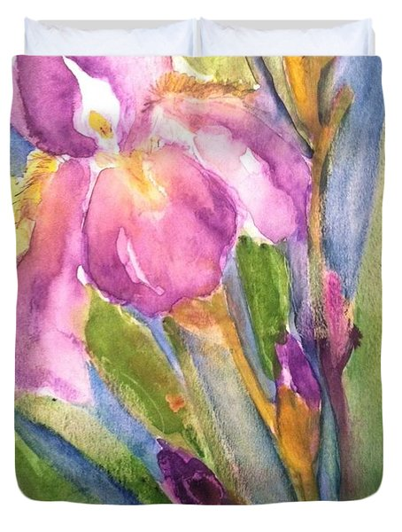 First Bloom Duvet Cover by Sherry Harradence