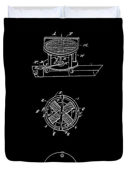 FIRST ELECTRIC MOTOR 2 PATENT ART 1837 Duvet Cover by Daniel Hagerman