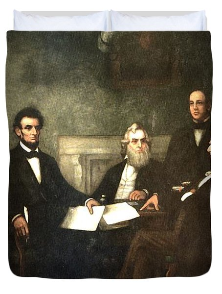 First Reading Of The Emancipation Proclamation Of President Lincoln Duvet Cover by Georgia Fowler