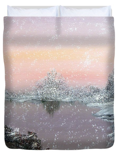 First Snowfall Duvet Cover by Alys Caviness-Gober