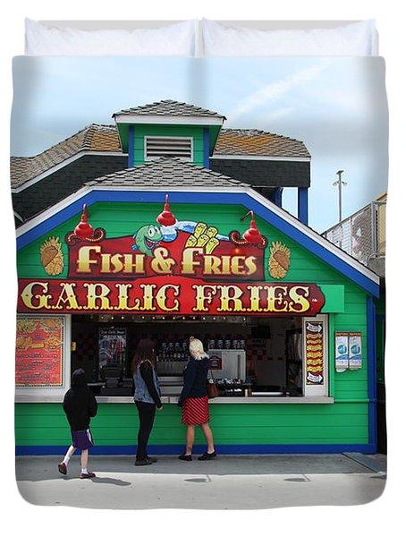 Fish And Fries At The Santa Cruz Beach Boardwalk California 5D23687 Duvet Cover by Wingsdomain Art and Photography