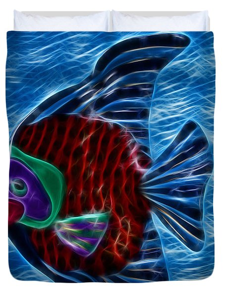 Fish In Water Duvet Cover by Shane Bechler