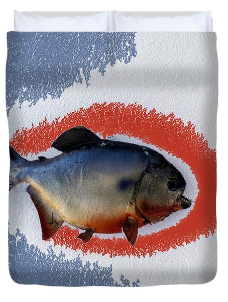 Fish Mount Set 12 B Duvet Cover by Thomas Woolworth