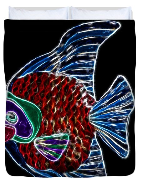 Fish Tales Duvet Cover by Shane Bechler