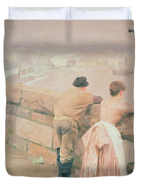 Fisherman St. Ives Duvet Cover by Anders Leonard Zorn
