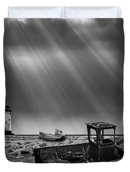 Fishing Boat Graveyard 11 Duvet Cover by Meirion Matthias