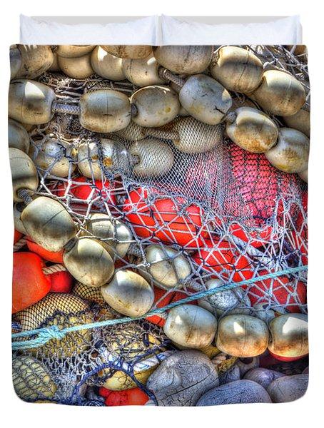 Fishing Bouys Duvet Cover by Heidi Smith