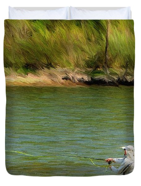 Fishing Lake Taneycomo Duvet Cover by Jeff Kolker
