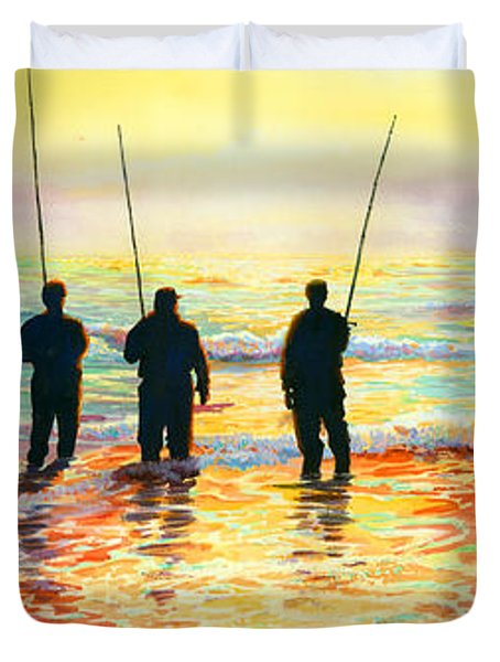 Fishing Line Duvet Cover by Marguerite Chadwick-Juner