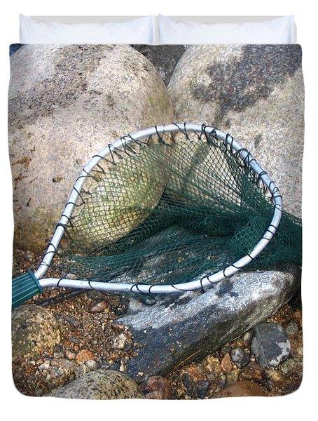 Fishing Net Duvet Cover by Kerri Mortenson