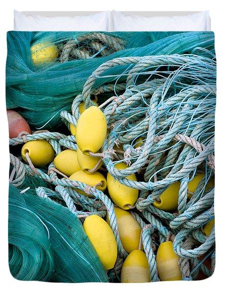 Fishing Nets Duvet Cover by Frank Tschakert