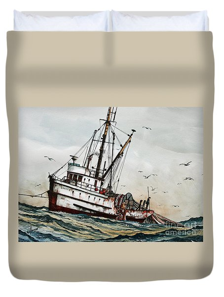 Fishing Vessel Dakota Duvet Cover by James Williamson