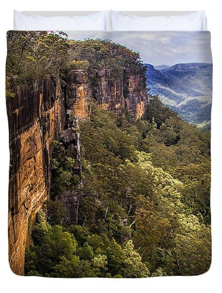 Fitzroy Falls In Kangaroo Valley Australia Duvet Cover by David Smith
