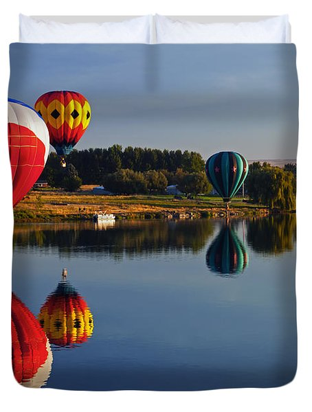 Five Aloft Duvet Cover by Mike  Dawson