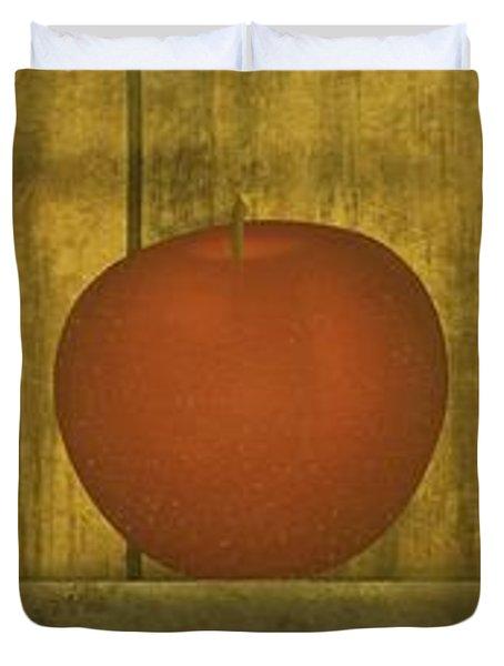 Five Apples  Duvet Cover by David Dehner