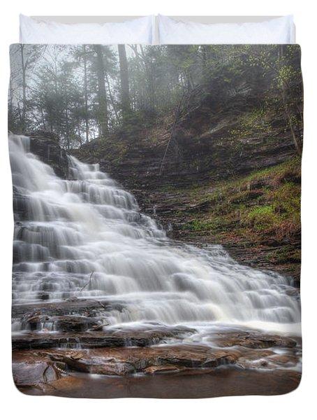 Fl Ricketts Waterfall Duvet Cover by Lori Deiter