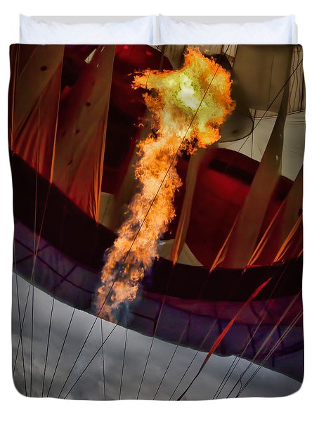Flame On Two Duvet Cover by Bob Orsillo