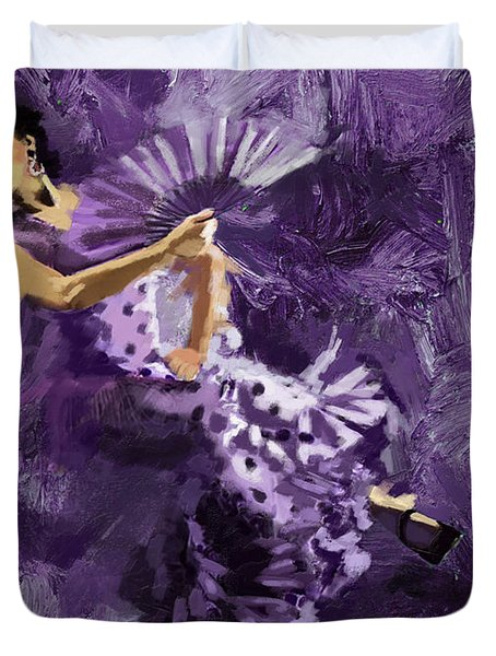 Flamenco Dancer 023 Duvet Cover by Catf
