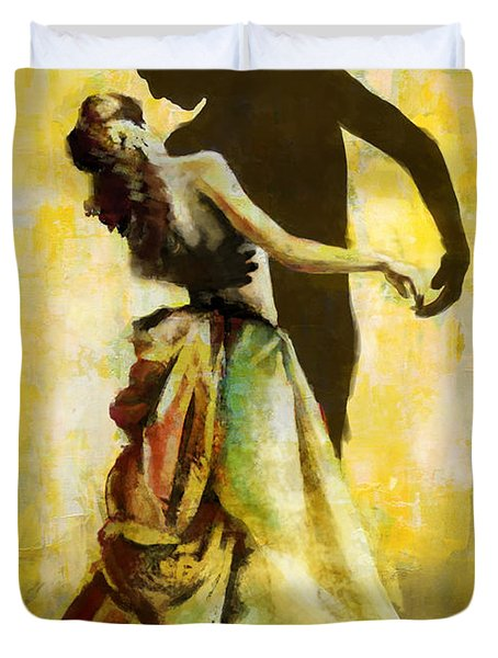 Flamenco Dancer 031 Duvet Cover by Catf
