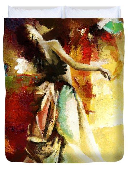 Flamenco Dancer 032 Duvet Cover by Catf