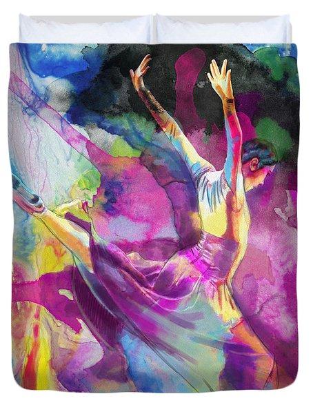 Flamenco Dancer Duvet Cover by Catf
