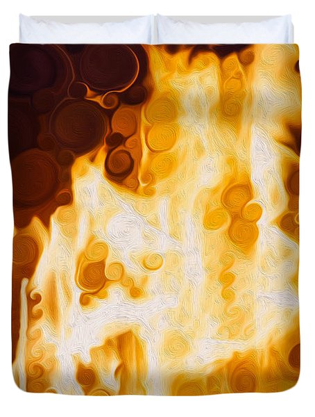 Flaming Waters Duvet Cover by Omaste Witkowski