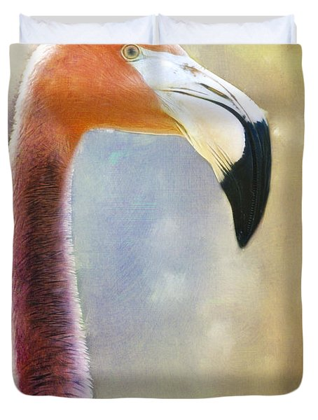 Flamingo Duvet Cover by Barbara Orenya