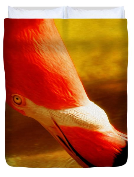 Flamingo Beauty Duvet Cover by Cheryl Young