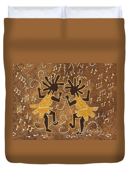 Flappers Duvet Cover by Katherine Young-Beck