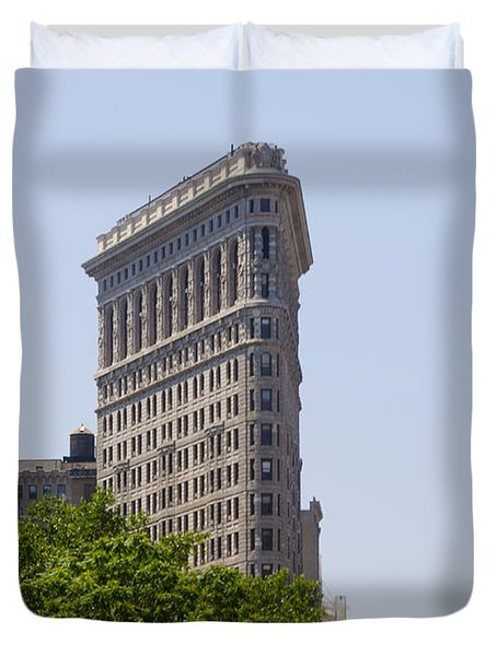 Flat Iron Building Duvet Cover by Bill Cannon