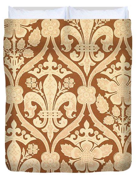 Fleur-de-lis Duvet Cover by Augustus Welby Pugin