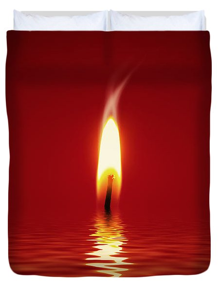 Floating Candlelight Duvet Cover by Wim Lanclus